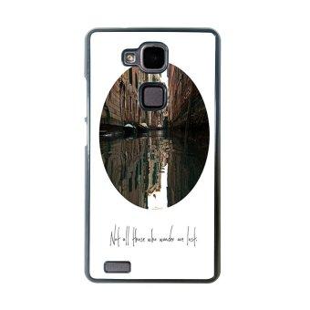 Wander Pattern Phone Case for Huawei Mate 7 (Black)