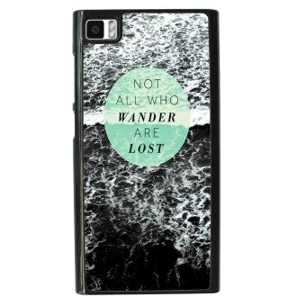 Wander Pattern Phone Case for Xiaomi Mi3 (Black)