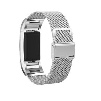 Watch Band Strap for Fitbit charge 2 Milanese Stainless Steel Watch Band - intl