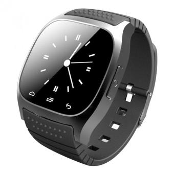 Waterproof Bluetooth Smart Wrist Watch Phone Mate for Smart Phones(Black)
