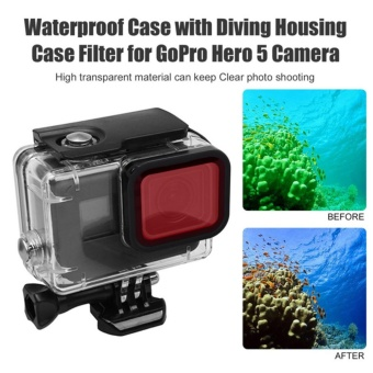 Waterproof Diving Scuba Red Filter Lens with Strap For Gopro Hero 5 and hero 6 Housing Case