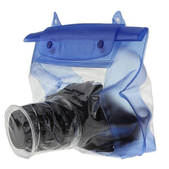 Waterproof DSLR Camera Underwater Pouch for Canon Blue (Intl) - 4