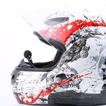 Waterproof Motorcycle Helmet Bluetooth Headset Wireless Headphones Handsfree Intercom Interphone - intl - 5