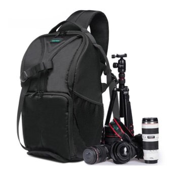 Waterproof Photo Camera Sling Backpack Bag for Canon DSLR CamerasGreen - intl