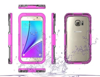 Waterproof Sports Diving Protective Case For Samsung Galaxy S7 Edge(Pink)
