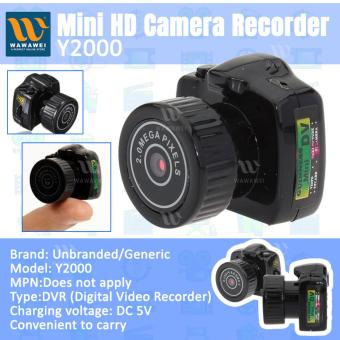 Wawawei Digital Mini DV Camera Hidden Spy Camera #Y2000 (Black) Price Philippines