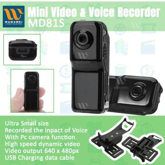 Wawawei Mini Camera And Voice Recorder #MD81s Spy Cameras (Black)with FREE Selfie Stick Integrated Foldable Monopod iPhone/AllSmartphone (Color May Vary) - 2