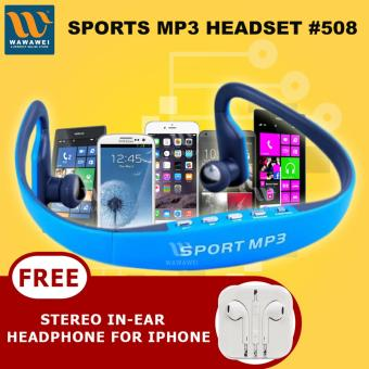 Wawawei Sports Mp3 Music Player Bluetooth Headset With FREE StereoIn-Ear Headphone for Apple iPhone/All Smartphone (Color May Vary)