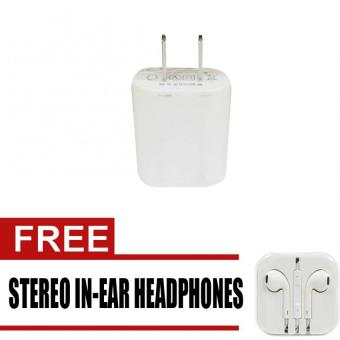 Wawawei USB Adaptor for Smartphone (White) with free Stereo In-EarHeadphone (White)