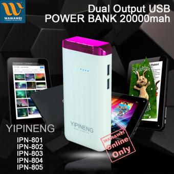 Wawawei Yipineng Smart Power Bank 20000mAh For Android and iPhone(Pink)