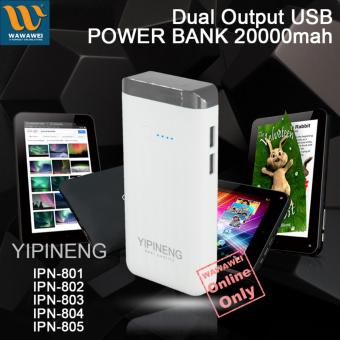 Wawawei Yipineng Smart Power Bank 20000mAh For Android and iPhone(Silver)