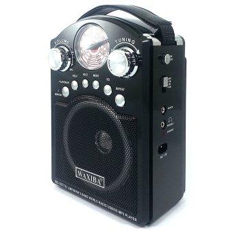Waxiba XB-1071U AM/FM/SW Radio With USB/SD MP3 Playback andTorchlight (Black) - 3
