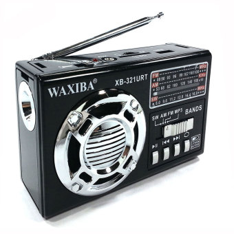 Waxiba XB-321URT Portable Multifunctrion AM/FM/SW Radio USB/SD MP3Player and TorchLight (Black)