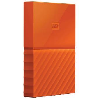 WD My Passport 1TB 2.5 USB 3.0 Portable External Hard Drive (WDBYNN0010BOR-WESN) (Orange) - 2