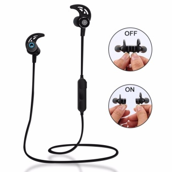 WE01 Bluetooth Headphones Intelligent Switch Magnetic Headset with Apt-x, Wireless 4.1 Sports Earbuds In Ear Stereo Earphones with Mic,Secure Fit for Running, Gym, Yoga