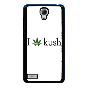 Weed Hipster Quote Pattern Phone Case for Xiaomi Redmi Note (Black)