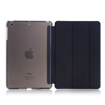 Welink 2 in 1 ( Ipad Air / ipad 5 / New iPad 2017 iPad 9.7 inch)Case , Tempered Glass + Ultra Slim Smart Cover PU Leather Case forApple ( Ipad Air / ipad 5 / New iPad 2017 iPad 9.7 inch )Case(Black) - intl