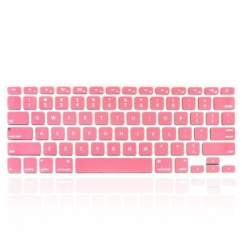Welink Fashion Silicone US Keyboard Cover Waterproof Keyboard Protector Skin For Apple Macbook Air 13 Inch , Macboo k Pro 13 Inch 15 Inch And Imac (Pink)