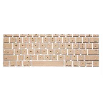 Welink Fashion Silicone US Keyboard Cover Waterproof KeyboardProtector Skin For Apple Macbook 12 Inch (Gold) - 2