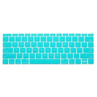 Welink Fashion Silicone US Keyboard Cover Waterproof KeyboardProtector Skin For Apple Macbook 12 Inch (Turquoise)