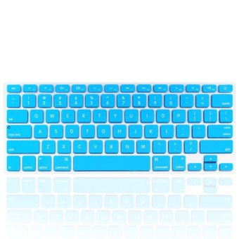 Welink Fashion Silicone US Keyboard Cover Waterproof KeyboardProtector Skin For Apple Macbook Air 13 Inch , Macbook Pro 13 Inch15 Inch And Imac (Aqua)