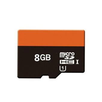 WHD 8GB Micro SD Card (black orange)
