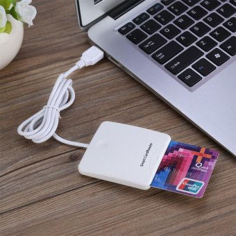 White Portable USB Full Speed Smart Chip Reader IC Mobile BankCredit Card Readers - intl Price Philippines