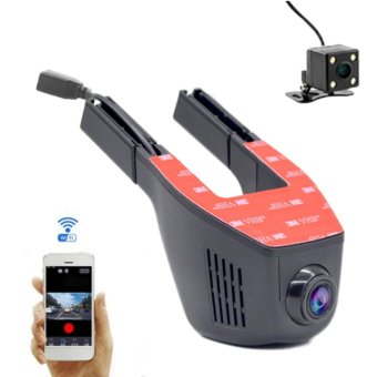 Wifi Lens Car Dvrs Car Dvr Video Recorder 150 Degree Car CameraDash Cam Support Rearview Camera Dual Recorder - intl Price Philippines