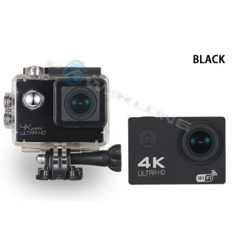 WIFI Video Camera 4K HD 1080P 16MP Helmet Sport Action WaterproofDV Cam for Gopro (Black)