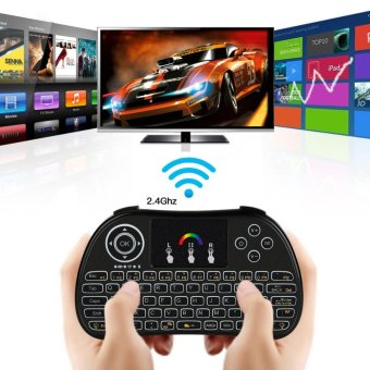 Wireless 2.4G LED Backlight Touchpad Gaming Keyboard for PC Mac Smart TV - intl
