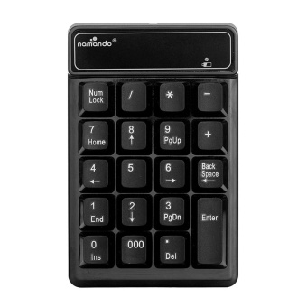 Wireless 2.4GHz 19 Keys Number Pad Numeric Keypad Keyboard forLaptop PC (Black) - intl
