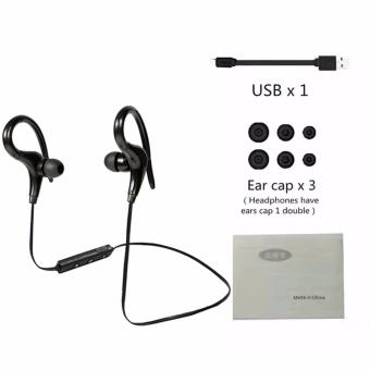 Wireless Bluetooth 4.1 in ear Headphones, Stereo SportWater-Resistant Earphone, Hook Designed Secure Fit for Running GymExercise Headsets (Black