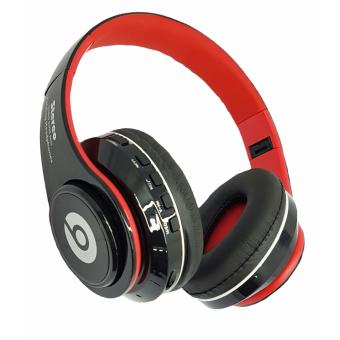 Wireless Bluetooth Beats FM/MP3 with LED light Stereo headphones(Red/black)