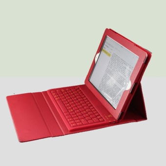 Wireless Bluetooth iPad Keyboard Leather Case Cover For Apple iPad 2 3 4 - intl