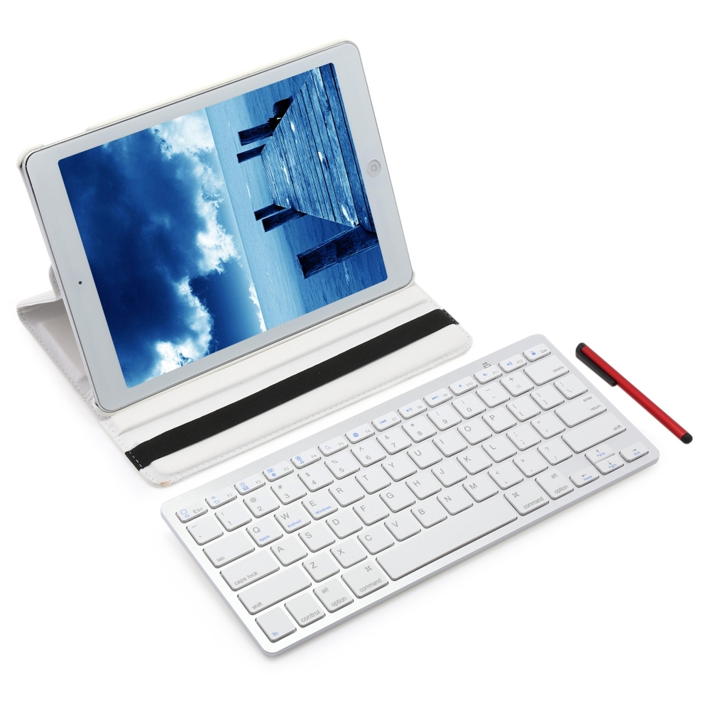 ... Wireless Bluetooth Keyboard Stylus Pen 360 Degree Rotating PULeather Smart Case Cover for iPad Pro 9.7 ...