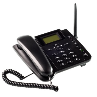 Wireless GSM Desk Phone QuadBand SIM Card Mobile Home Office Desktop Telephone - intl Price Philippines