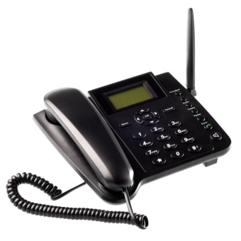 Wireless QuadBand SIM Card GSM Desk Phone Mobile Home Desktop Telephone - intl Price Philippines