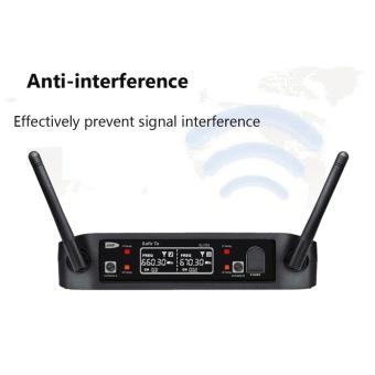Wireless UHF Professional Microphone 2-Channel Dual LCD Handheld Mic System Kits US PLUG - intl - 5