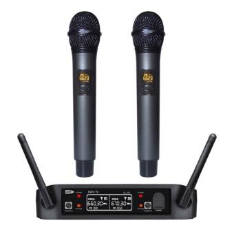 Wireless UHF Professional Microphone 2-Channel Dual LCD Handheld Mic System Kits US PLUG - intl - 2