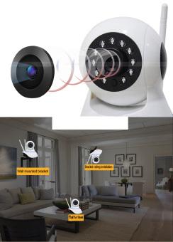 Wireless WiFi 1080P Single Antenna CCTV IP Camera - 3