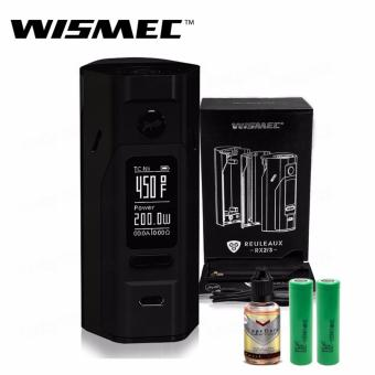 Wismec Reuleaux RX2/3 200W Variable Electronic Cigarette Mod (Black) with 30ml Premium Quality E-Juice (Flavor May Vary) & LHR Shrek 2500mAh or 2600mah INR18650 Battery