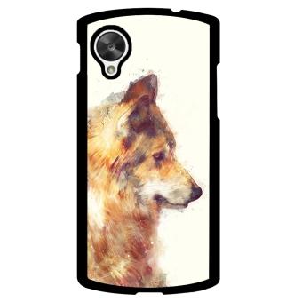 Wolf Pattern Phone Case for LG Nexus 5 (Orange)