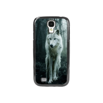Wolf Pattern Phone Case for Samsung Galaxy S4 (Black)