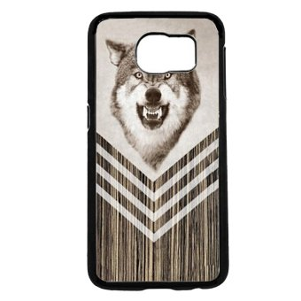 Wolf Pattern Phone Case For Samsung Galaxy S6 (Black)