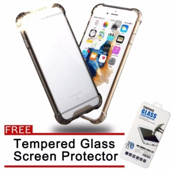 Wonderful seris shockproof case for Samsung J7 Pro(black) with FREEtempered glass