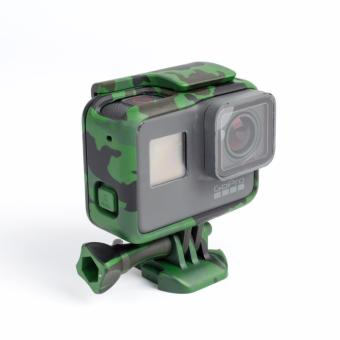 Woodland Camouflage Camera Border Woopower Camera Protection Box Case Military fan For Go pro Hero 5 Accessories GoPro5 - 2