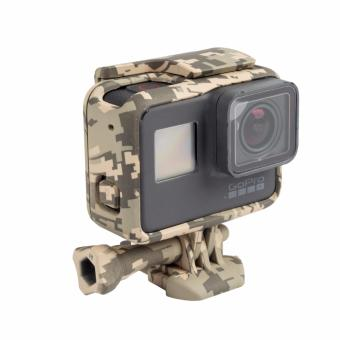 Woodland Camouflage Camera Border Woopower Camera Protection Box Case Military fan For Go pro Hero 5 Accessories GoPro5