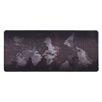 World Map Pattern Non-slip Mouse Pad Gaming Mat With Stitched Edge(300x700x2mm) - intl - 3