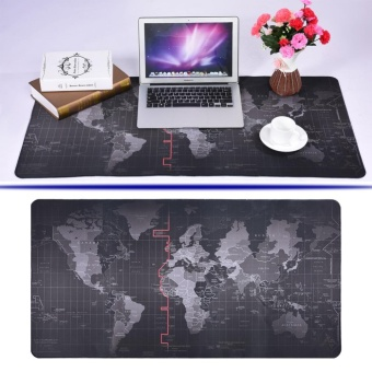World Map Pattern Non-slip Mouse Pad Gaming Mat With Stitched Edge(300x700x2mm) - intl