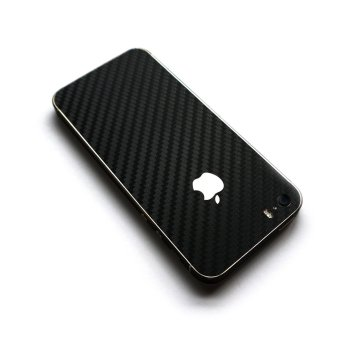 Wrapped Up Carbon Fiber Full Body Wrap for iPhone SE/5s (Black)